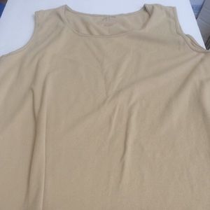 Ladies white stag tank top extra large